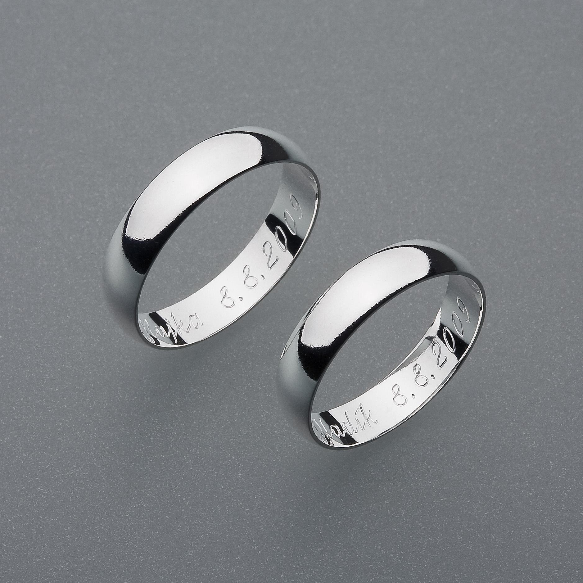 Stribrne Snubni Prsteny Vzor Z1