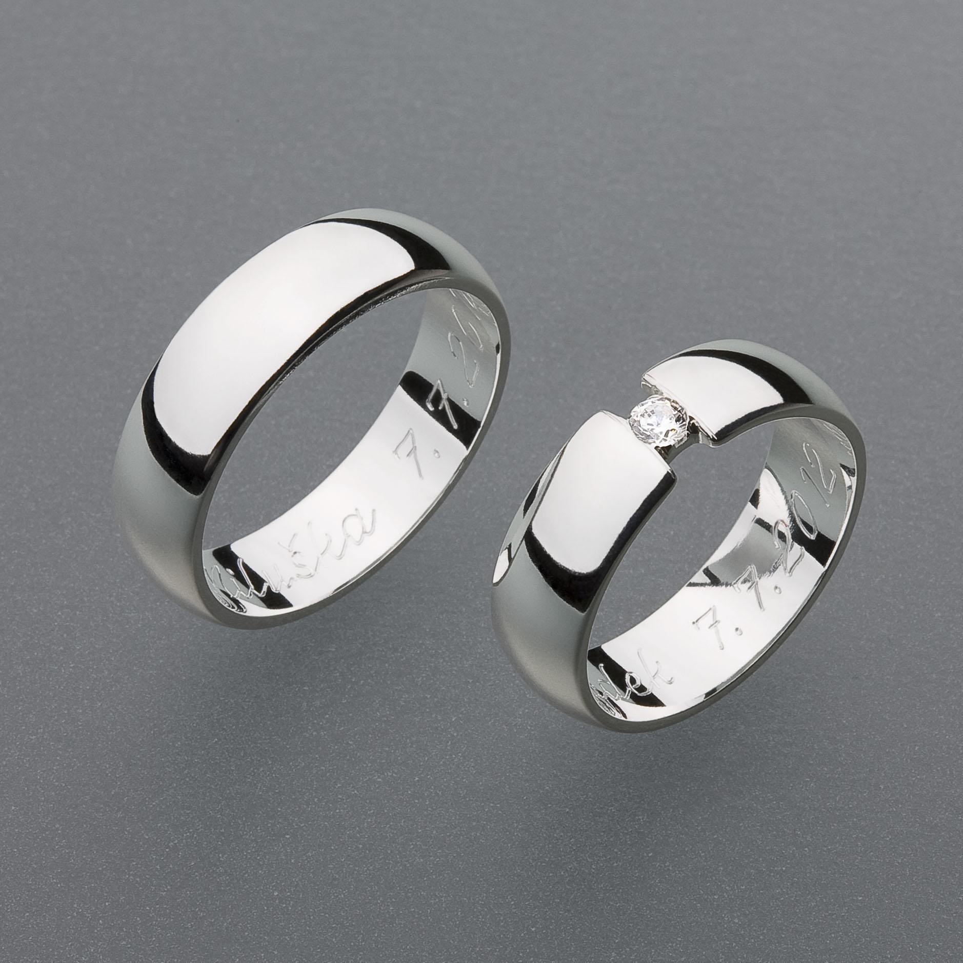 Stribrne Snubni Prsteny Vzor Z33