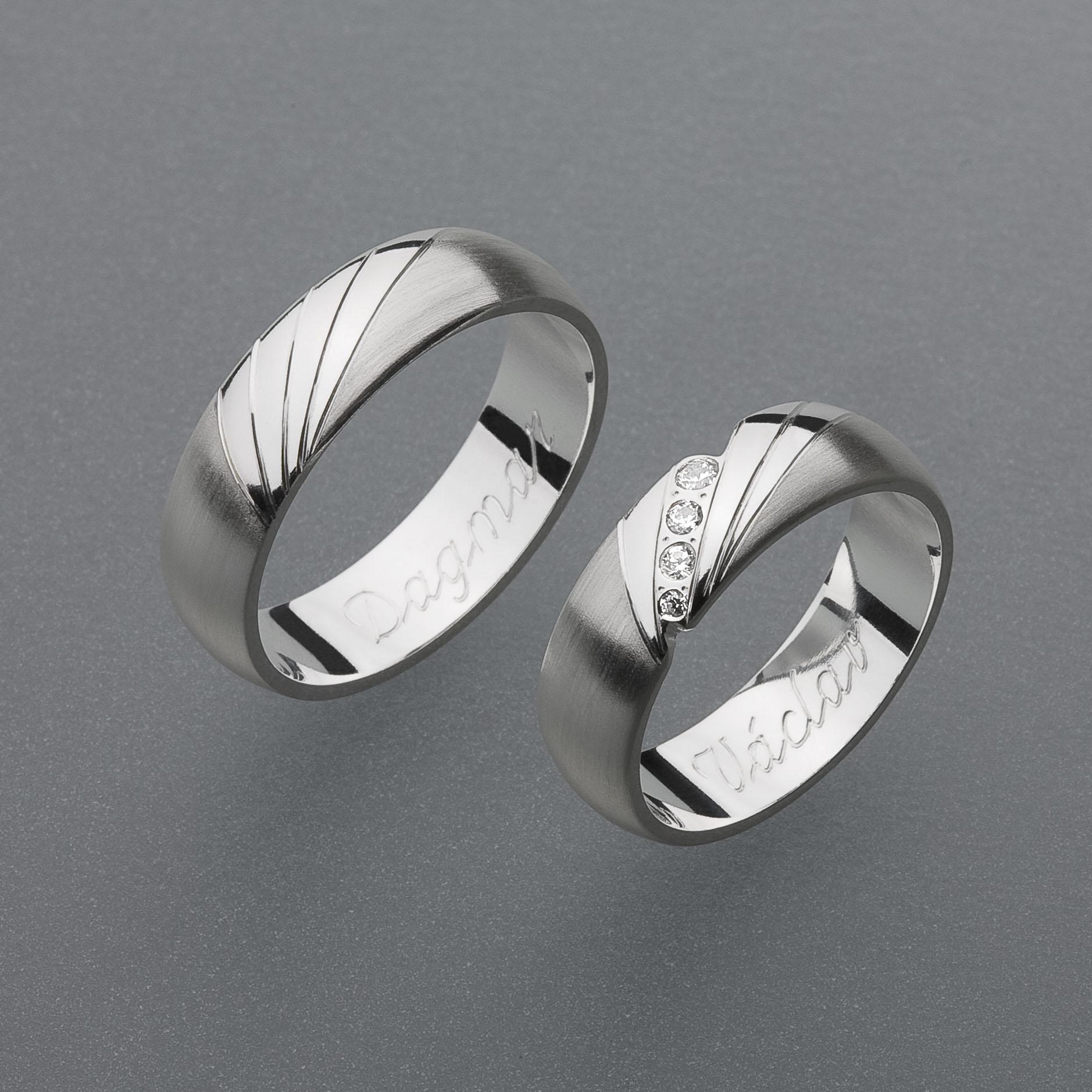 Stribrne Snubni Prsteny Vzor Z34