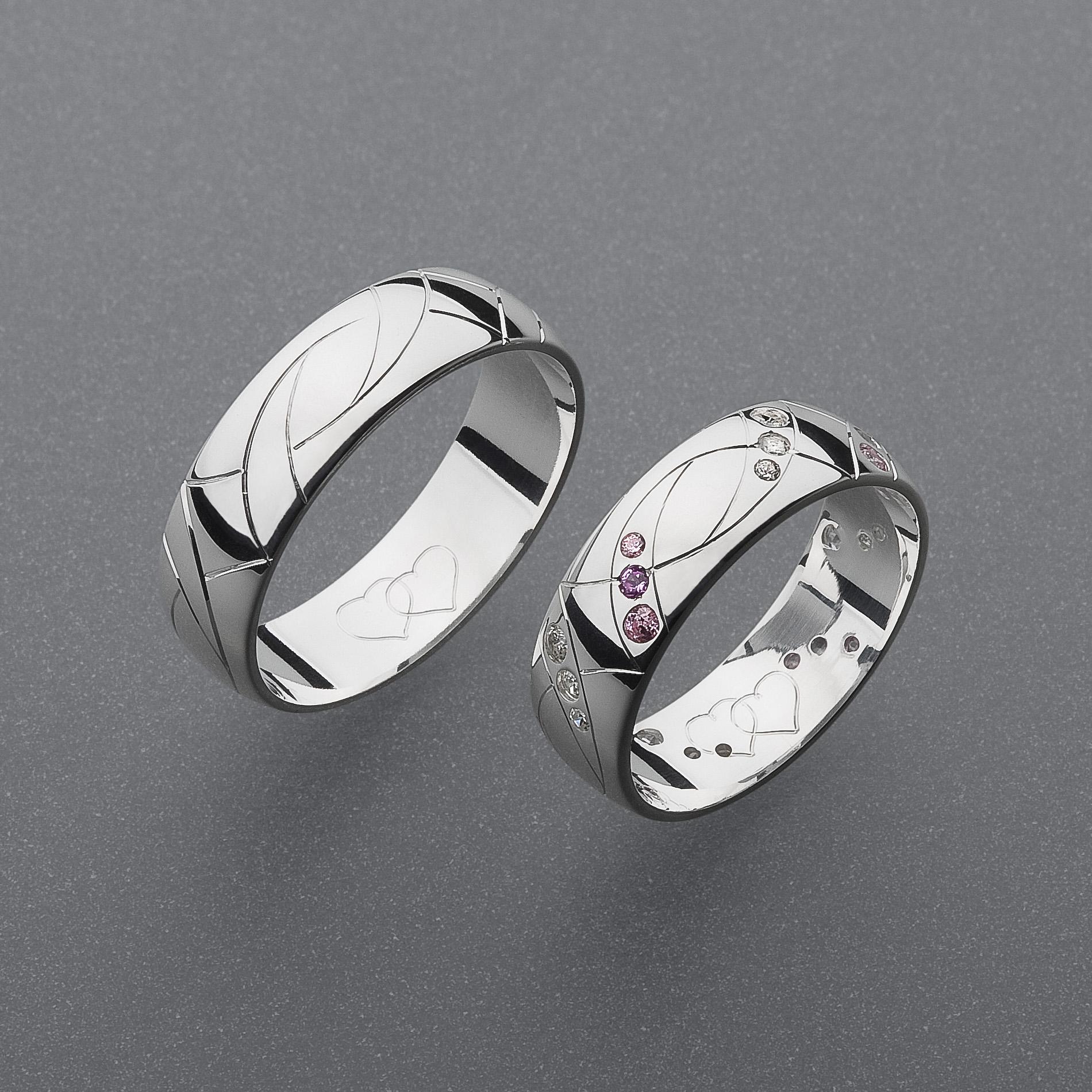 Stribrne Snubni Prsteny Vzor Z56