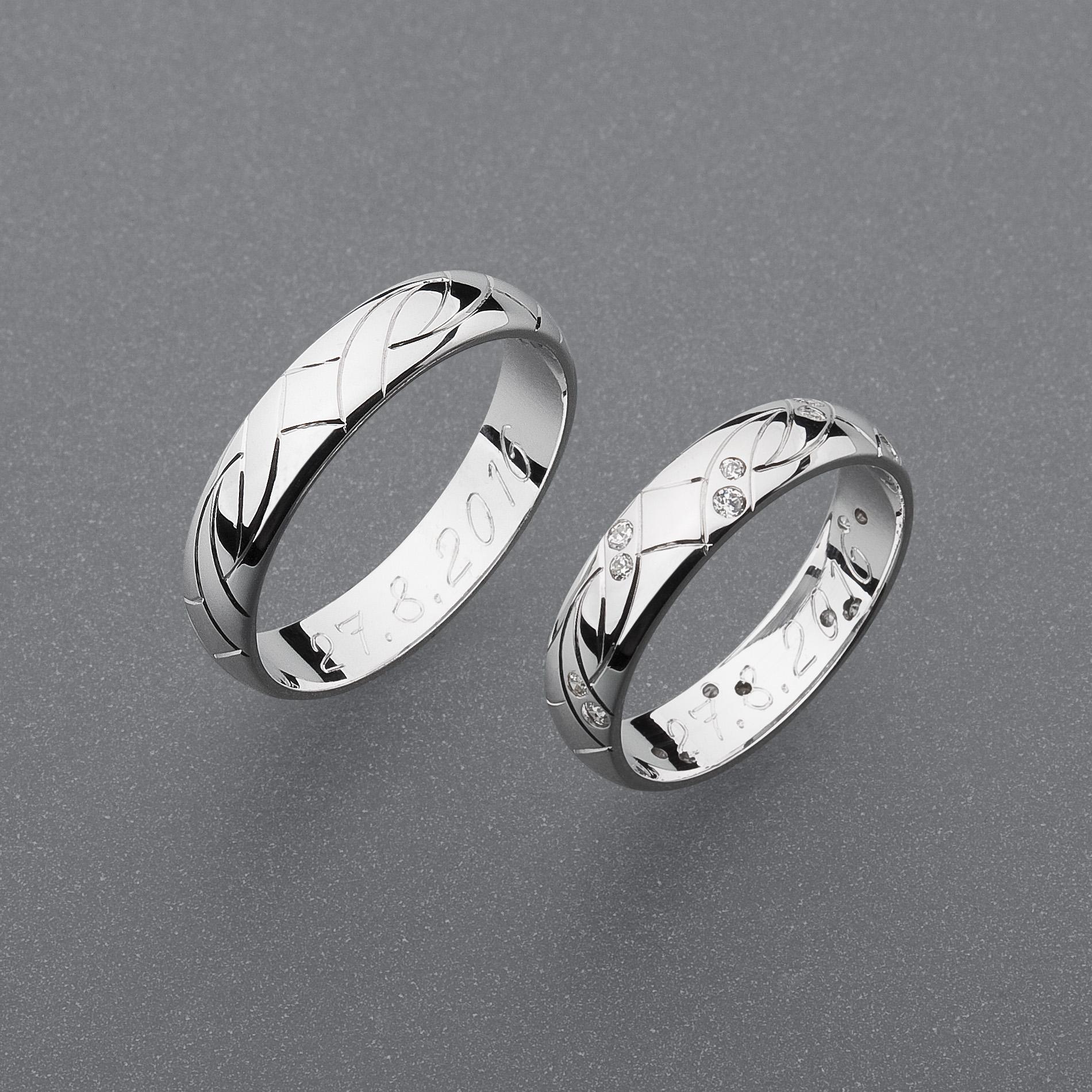 Stribrne Snubni Prsteny Vzor Z56 Slim