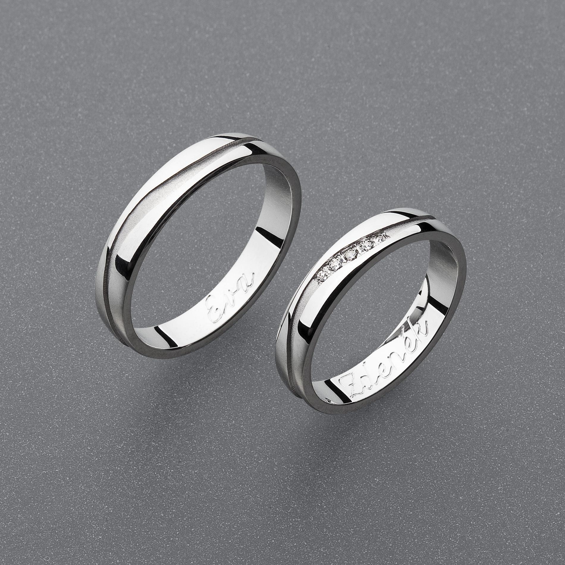 Stribrne Snubni Prsteny Vzor Z93