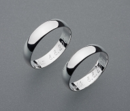 stříbrné snubní prsteny vzor Z1
