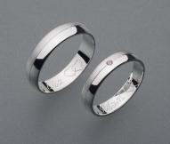 stříbrné snubní prsteny vzor Z2