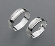 stříbrné snubní prsteny vzor Z27
