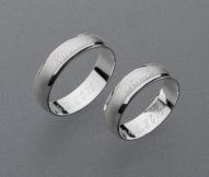 stříbrné snubní prsteny vzor Z9