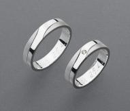 stříbrné snubní prsteny vzor Z39
