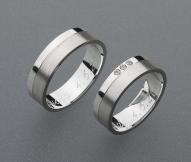 stříbrné snubní prsteny vzor Z16