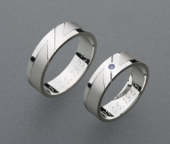stříbrné snubní prsteny vzor Z14