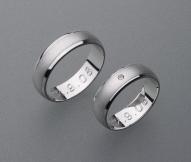 stříbrné snubní prsteny vzor Z5
