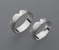 stříbrné snubní prsteny vzor Z10