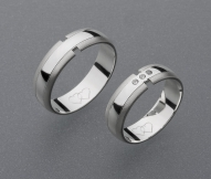 stříbrné snubní prsteny vzor Z11