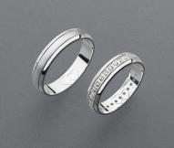 stříbrné snubní prsteny vzor Z41