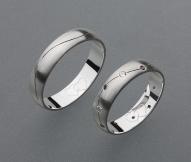stříbrné snubní prsteny vzor Z30