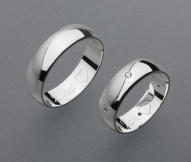 stříbrné snubní prsteny vzor Z32