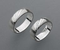 stříbrné snubní prsteny vzor Z34