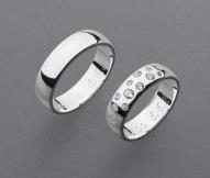 stříbrné snubní prsteny vzor Z42