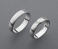 stříbrné snubní prsteny vzor Z60