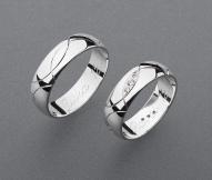 stříbrné snubní prsteny vzor Z61