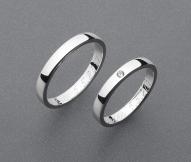 stříbrné snubní prsteny vzor Z67