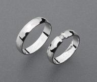 stříbrné snubní prsteny vzor Z73