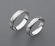 stříbrné snubní prsteny vzor Z74