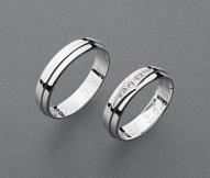 stříbrné snubní prsteny vzor Z75