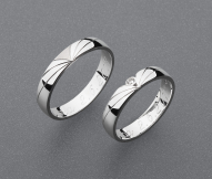 stříbrné snubní prsteny vzor Z78