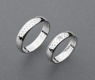 stříbrné snubní prsteny vzor Z80
