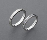 stříbrné snubní prsteny vzor Z84