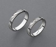 stříbrné snubní prsteny vzor Z85