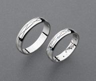 stříbrné snubní prsteny vzor Z86