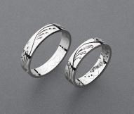 stříbrné snubní prsteny vzor Z89