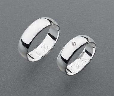 stříbrné snubní prsteny vzor Z37