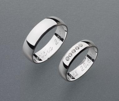 stříbrné snubní prsteny vzor Z17