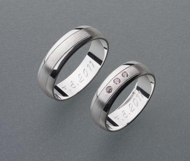 stříbrné snubní prsteny vzor Z19