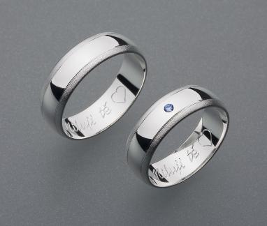 stříbrné snubní prsteny vzor Z4
