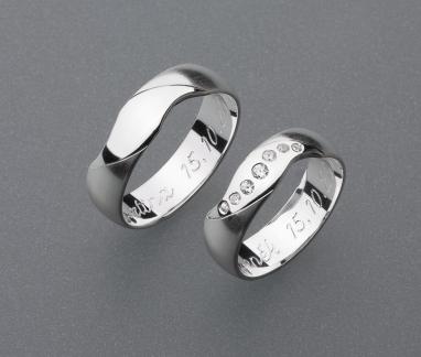 stříbrné snubní prsteny vzor Z23