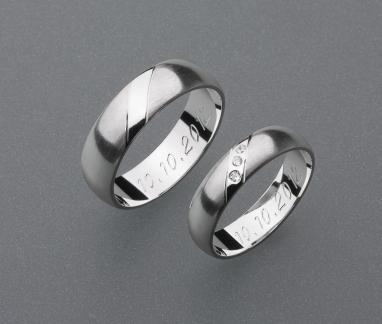 stříbrné snubní prsteny vzor Z25