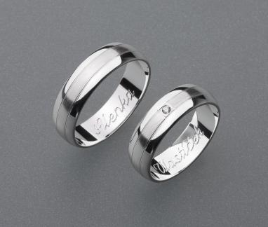 stříbrné snubní prsteny vzor Z26