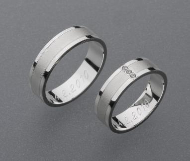 stříbrné snubní prsteny vzor Z12