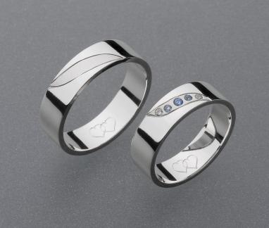 stříbrné snubní prsteny vzor Z8