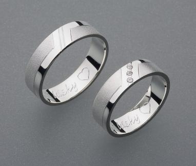 stříbrné snubní prsteny vzor Z6
