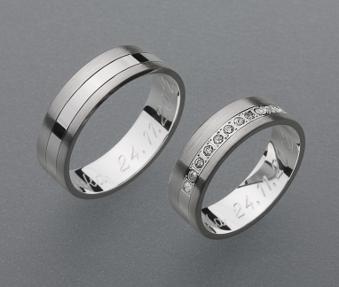 stříbrné snubní prsteny vzor Z35