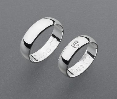 stříbrné snubní prsteny vzor Z44