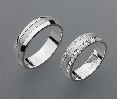 stříbrné snubní prsteny vzor Z36