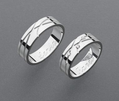 stříbrné snubní prsteny vzor Z48