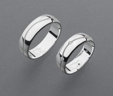 stříbrné snubní prsteny vzor Z47