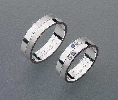 stříbrné snubní prsteny vzor Z20