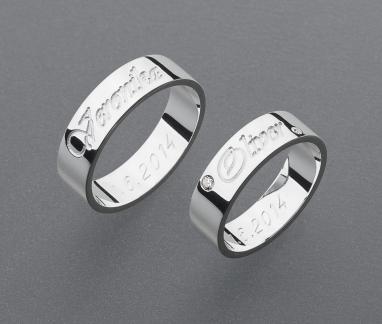 stříbrné snubní prsteny vzor Z46